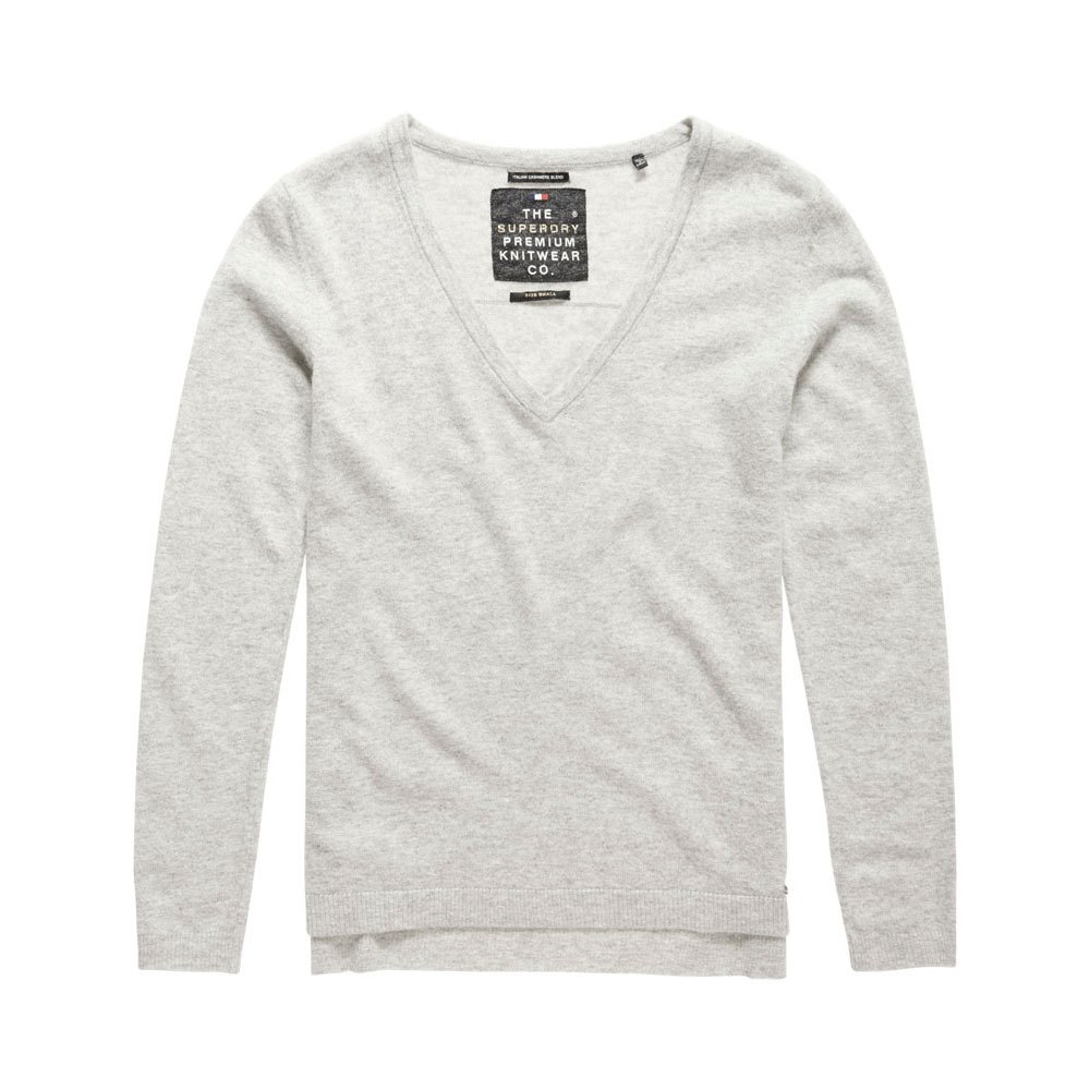 Superdry Luxe Cashmere Vee Neck Knit