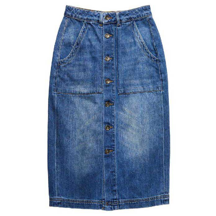 Superdry Midi Button Skirt