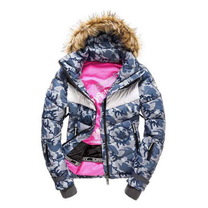 Superdry Retro Chevron Hooded Puffer W