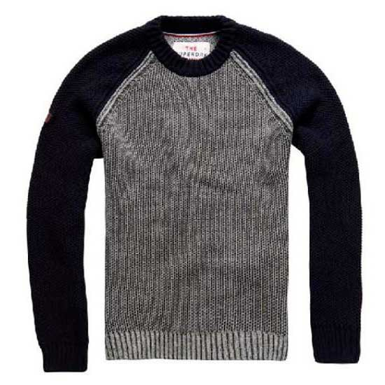 Superdry Textured Baseball Crew Neck