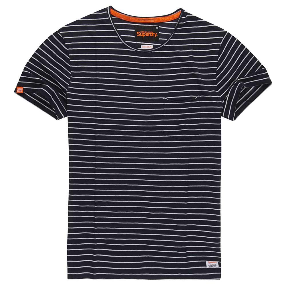 Superdry Lite Loomed Cut Curl Stripe Tee