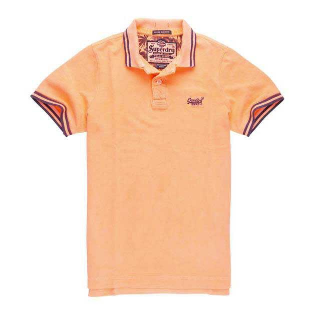 Superdry Vintage Destroyed Ss Tipped Aloha Polo