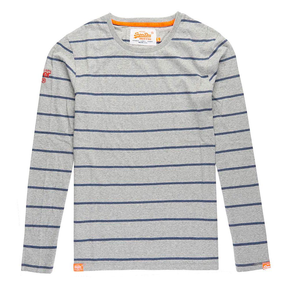 Superdry Orange Label Ls Boat Breton Tee