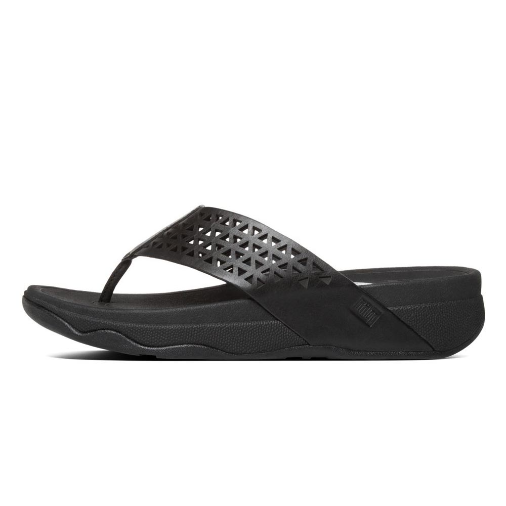 Fitflop Leather Lattice Surfa