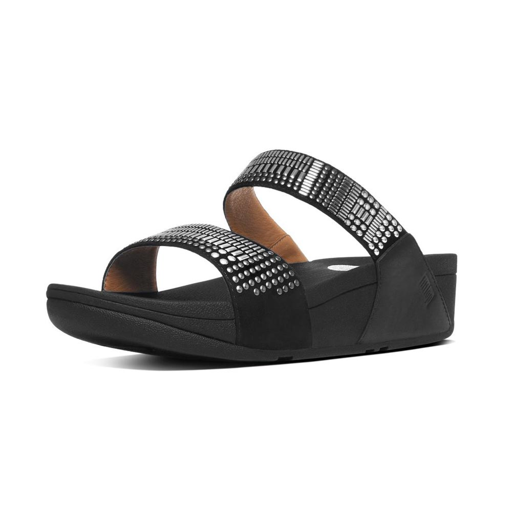Fitflop Aztec Chada Slide Silver Stones