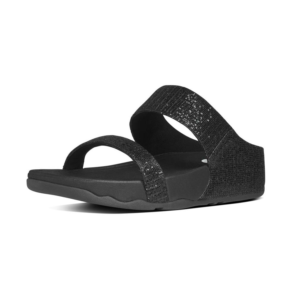 02ca6ed57f32 Fitflop Lulu Superglitz Slide Black buy and offers on Dressinn