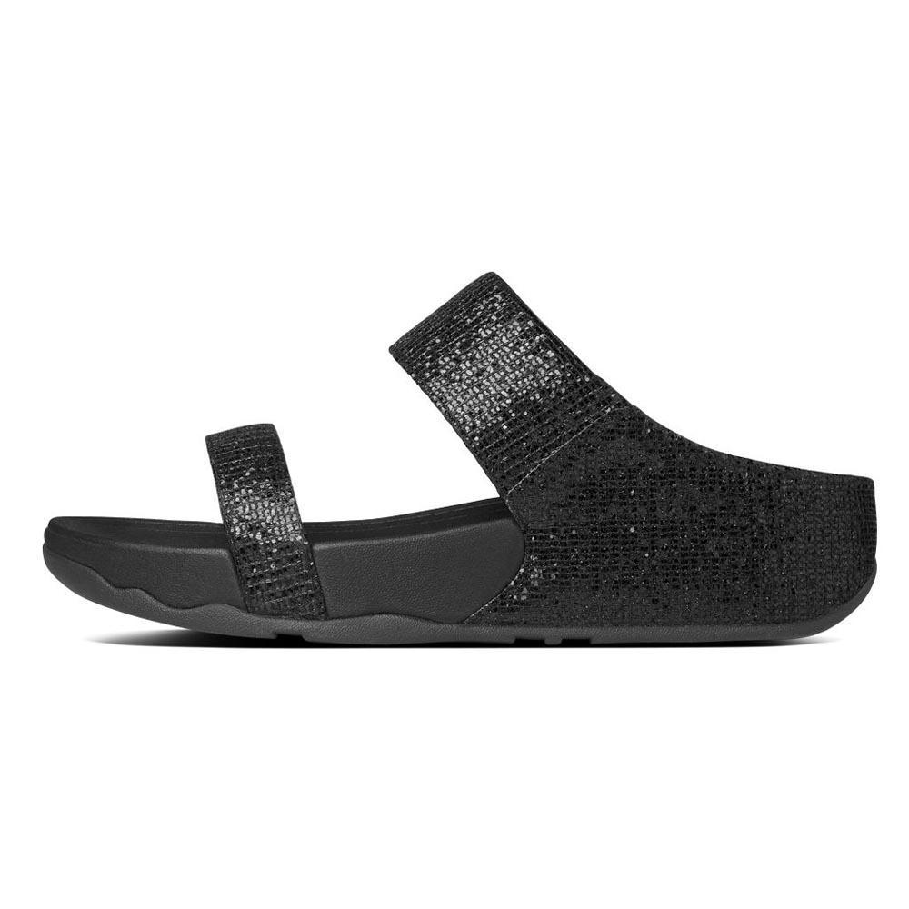 62c4db7f09b Fitflop Lulu Superglitz Slide Black buy and offers on Dressinn