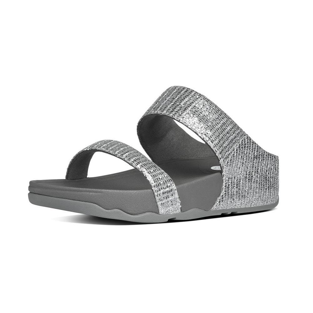 fea019d08418 Fitflop Lulu Superglitz Slide Grey buy and offers on Dressinn