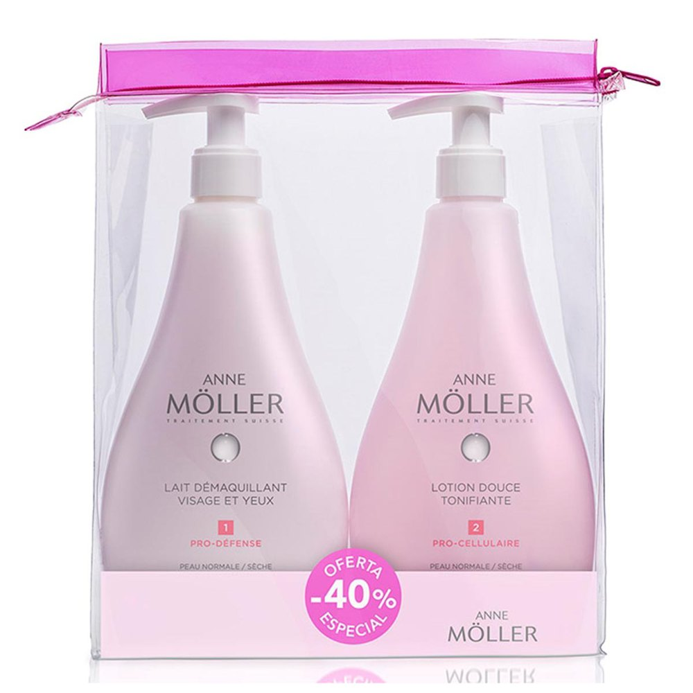 Anne moller fragrances Lait Demaquillant 400ml Lotion Tonifiante 400ml