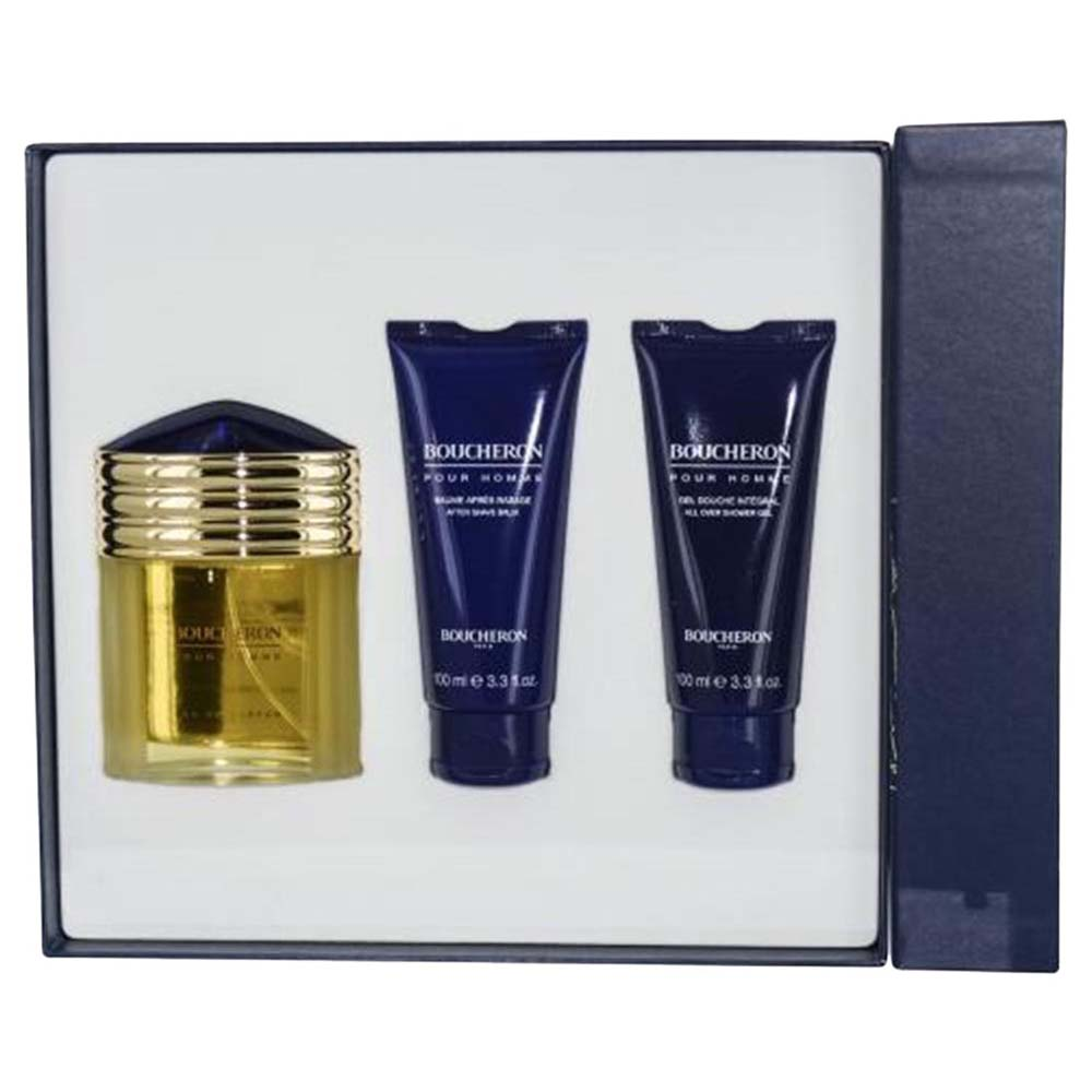 Boucheron fragrances Pour Homme Eau De Parfum 100ml Allover Shower Gel Tube 100ml After Shave Balm Tube 100ml