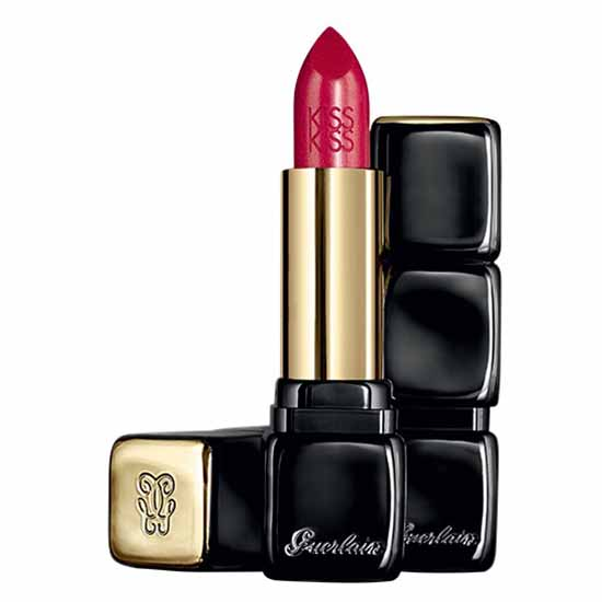 Guerlain fragrances Kiss Kiss Le Rouge Creme Galbant Lipstick 322 Red On Fire