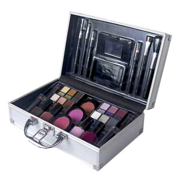 Color Workshop Make Up Silver Briefcase 44 Eyeshadow Nail Lacquer ...