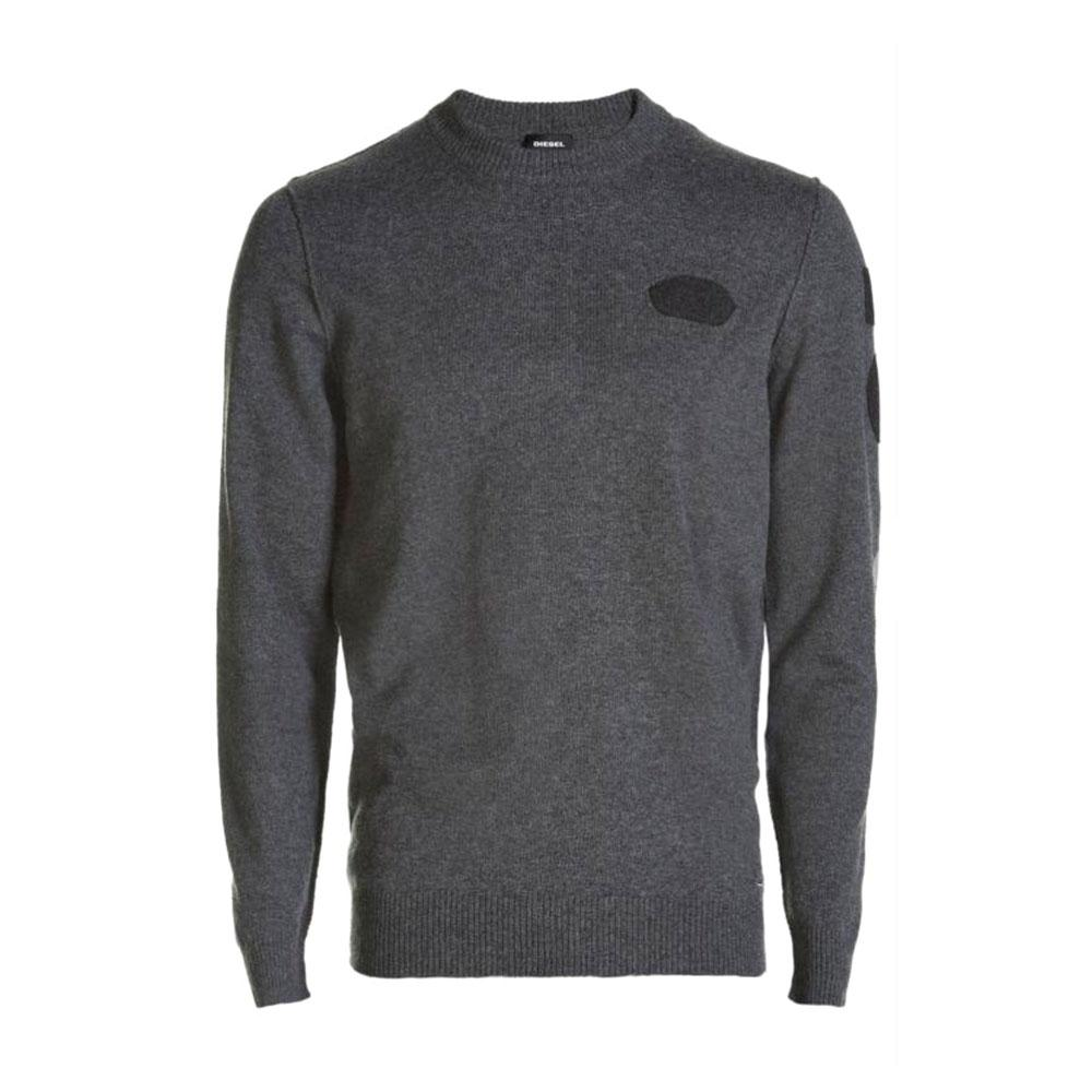 66e3733e96910 Diesel K Nummule Pullover Grey buy and offers on Dressinn