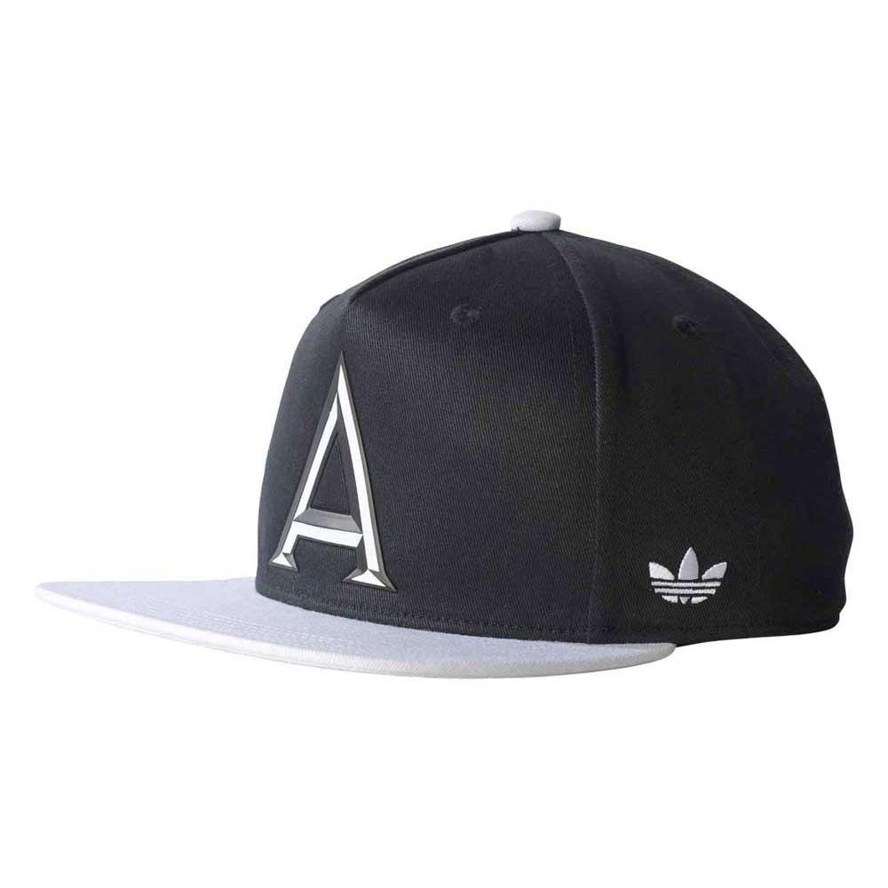 055fdccc26f336 uk adidas originals snapback flatbrim cap blackwhite d1df1 1286c