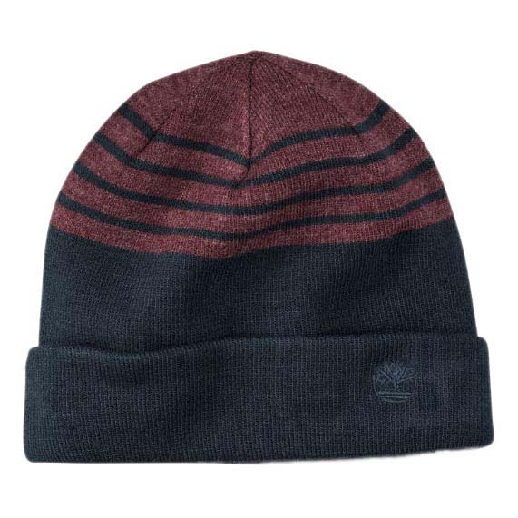 Timberland Reversible Stripe Solid Beanie