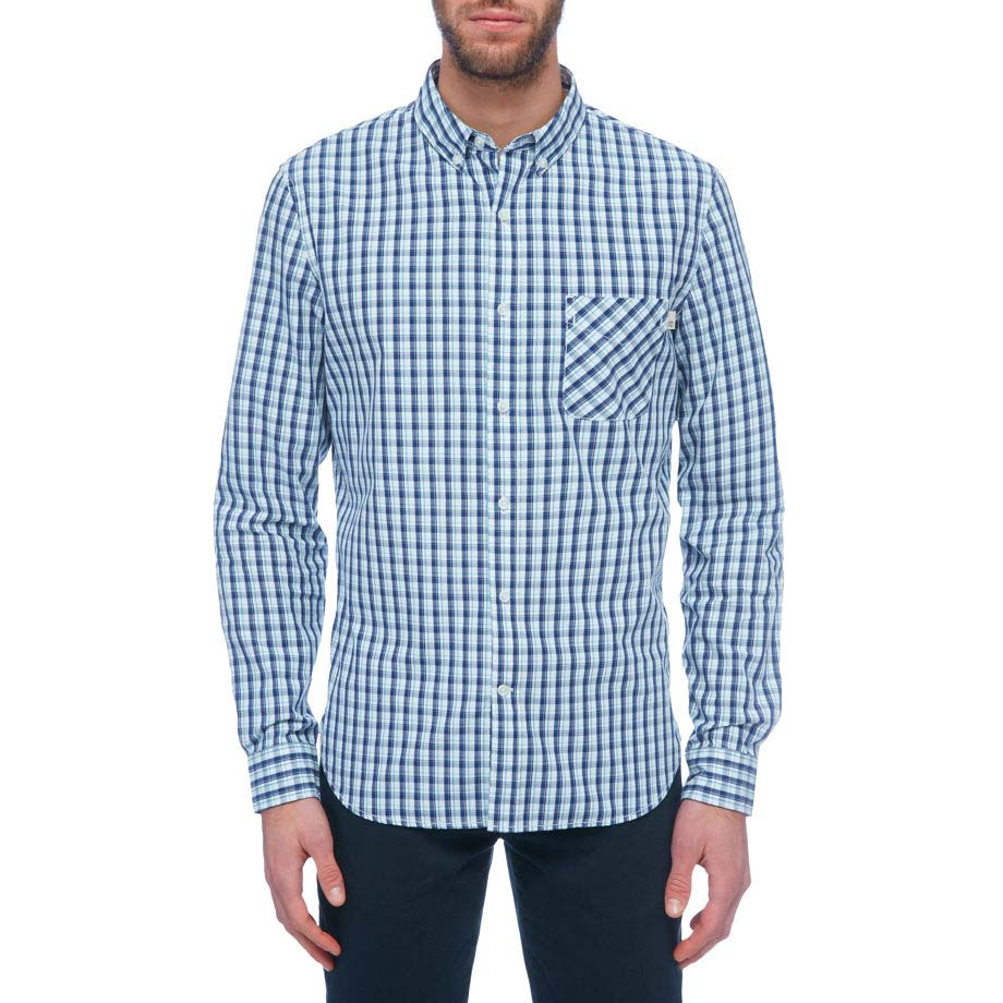 Timberland Ls Poplin Small Plaid Shirt