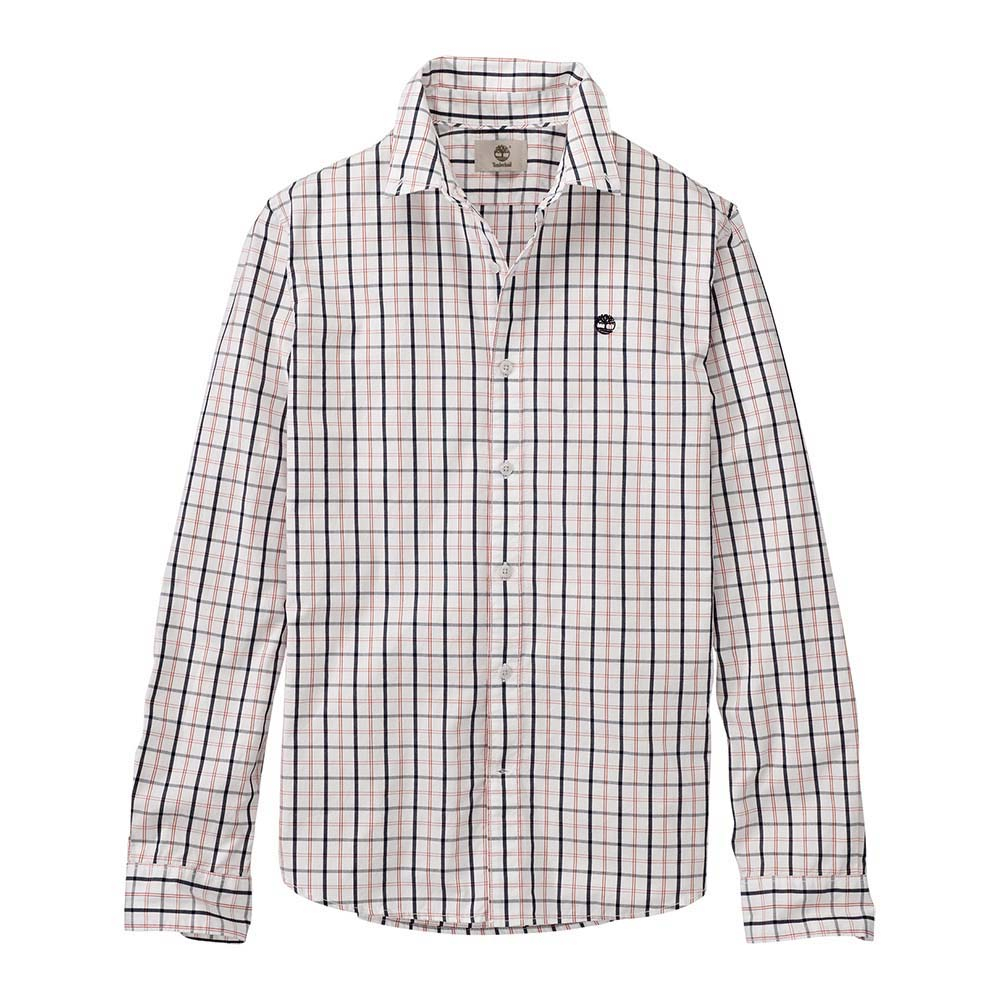 Timberland Ls Slim Poplin Medium Plaid Shirt