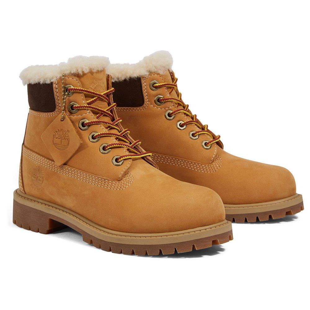 dd135bd4e28 Timberland 6 in Premium Waterproof Shearling Lined Boot Junior Orange,  Dressinn