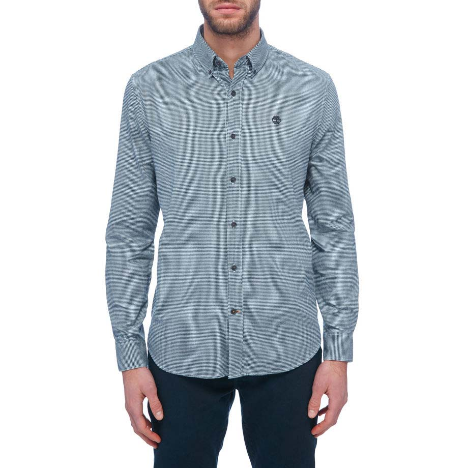 TIMBERLAND Ls Slim Brushed Twill Houndstooth Shirt