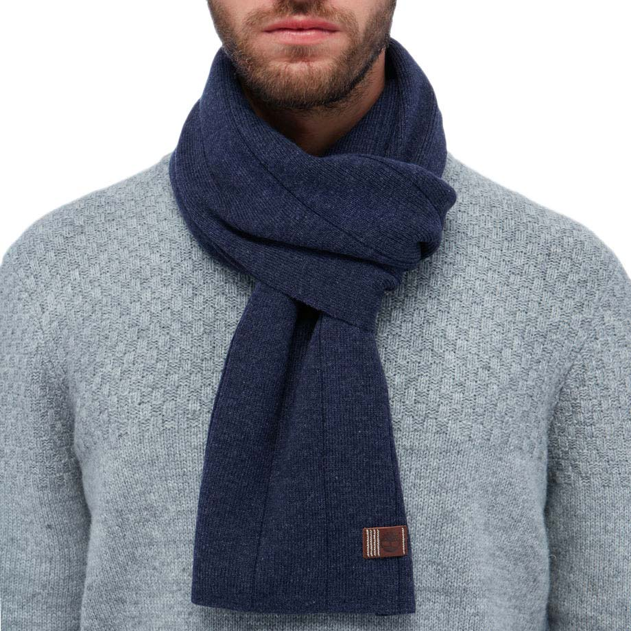 Timberland Heathered Ribbed Scarf