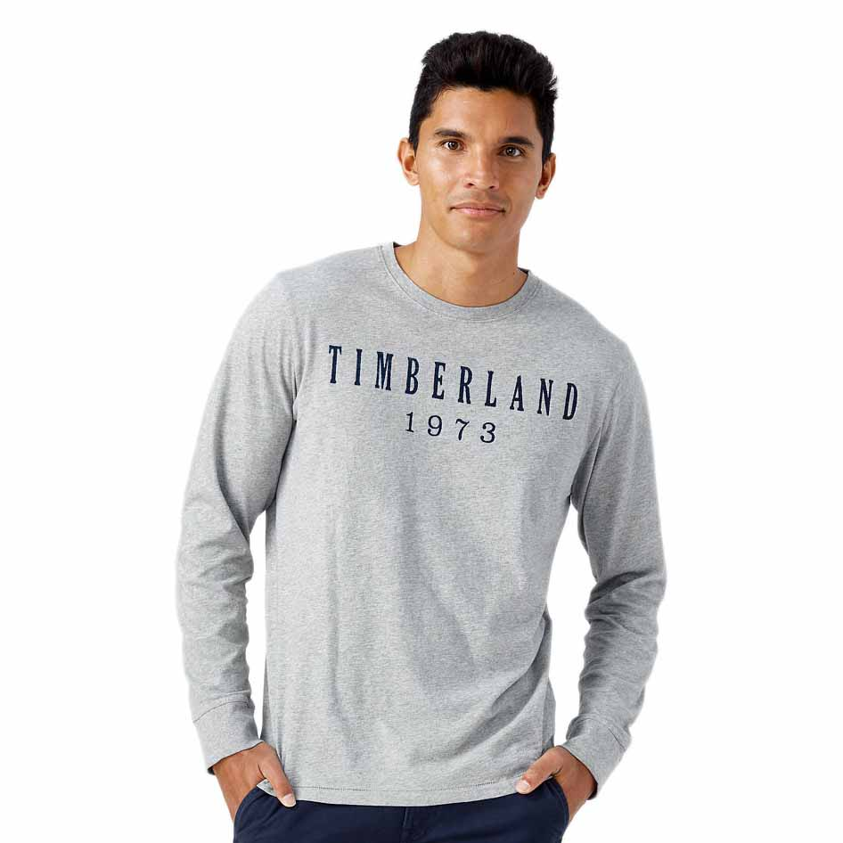 Timberland Ls Kennebec River Linear Logo Tee