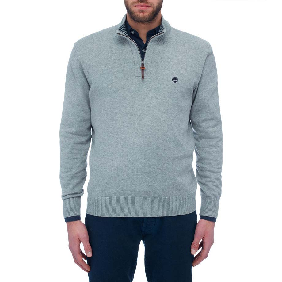 Timberland Mens Half Zip Sweatshirt Williams River Half Zip