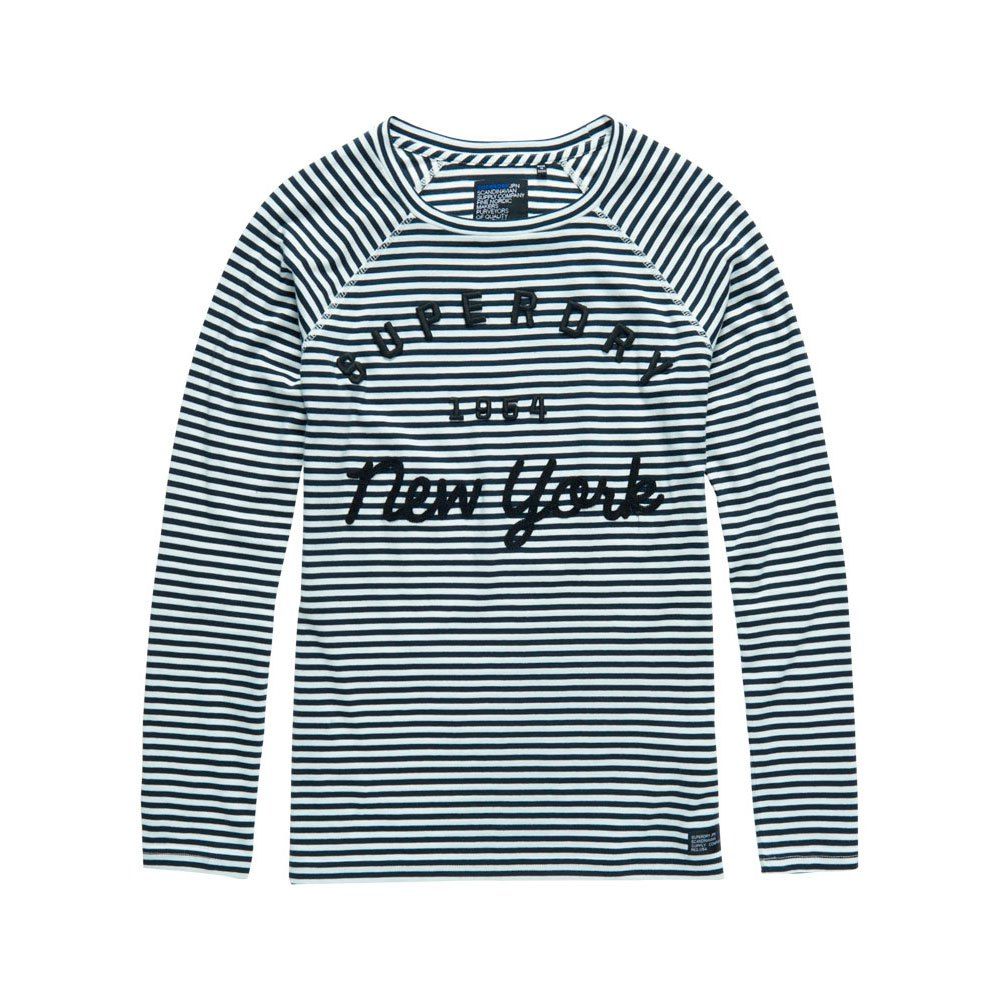 Superdry Applique Raglan Stripe Ls Tee