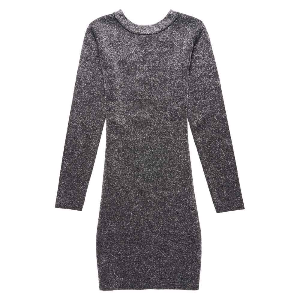 a3d3c82da47 Superdry Metallic Vee Back Knit Dress Gris