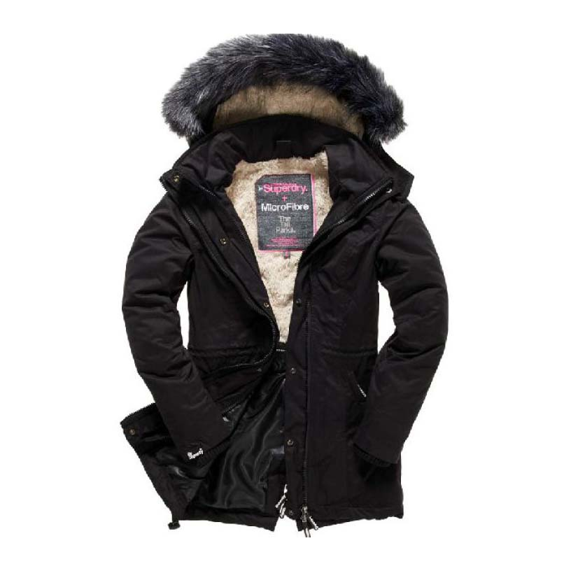 Superdry Microfibre Tall Parka