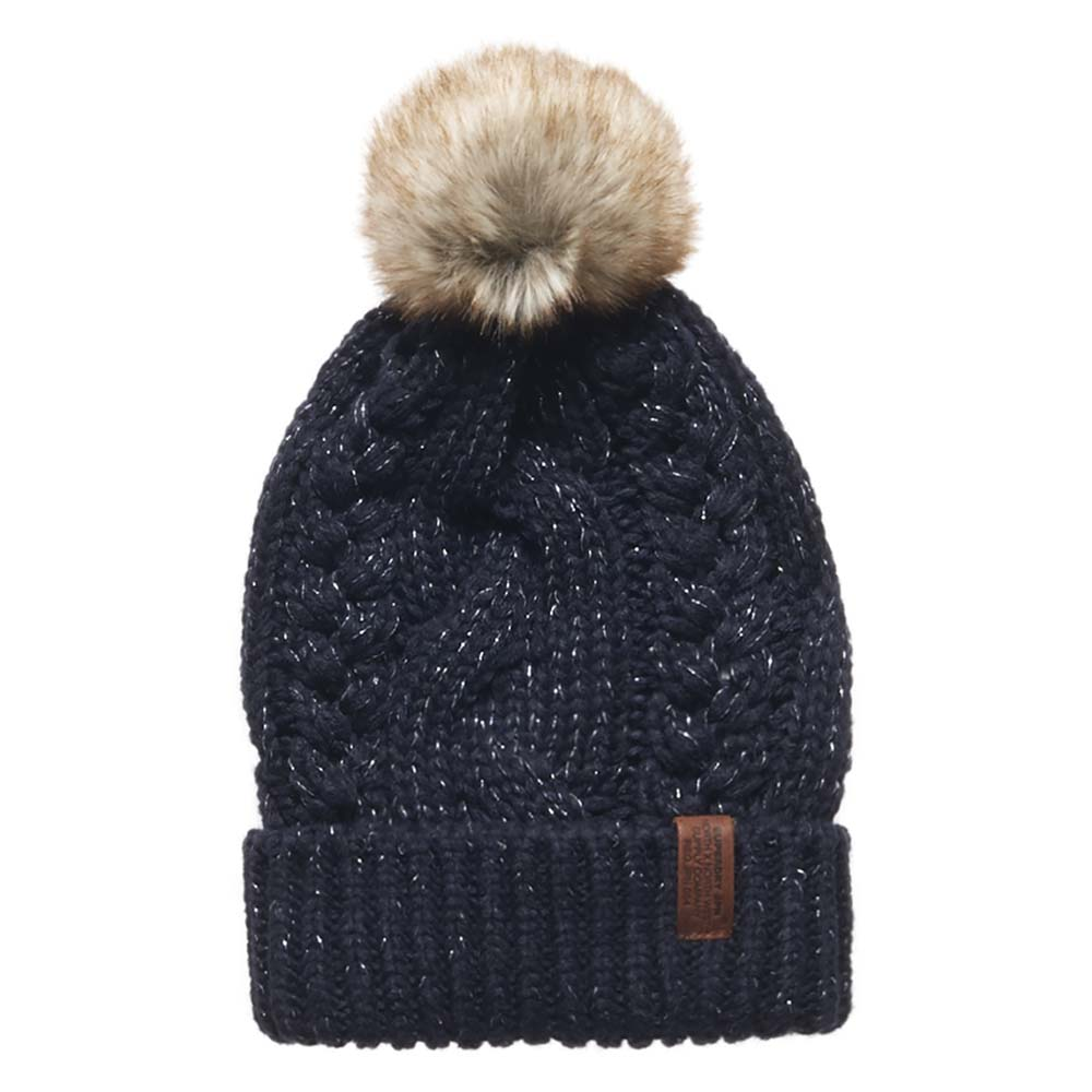 Superdry North Cable Beanie Black buy and offers on Dressinn 60cfc2bbe4e9