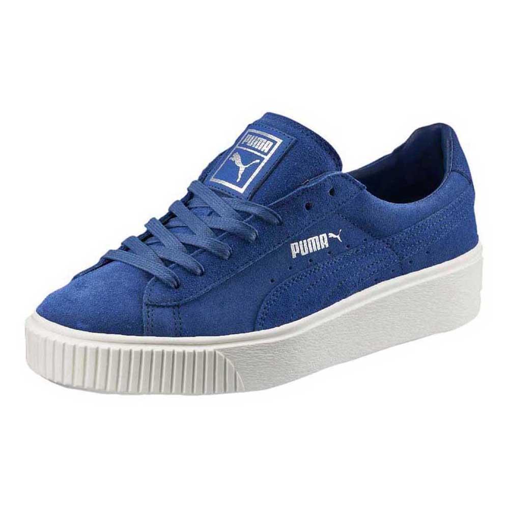 1c8f29ad94023f Puma Suede Platform Blue buy and offers on Dressinn