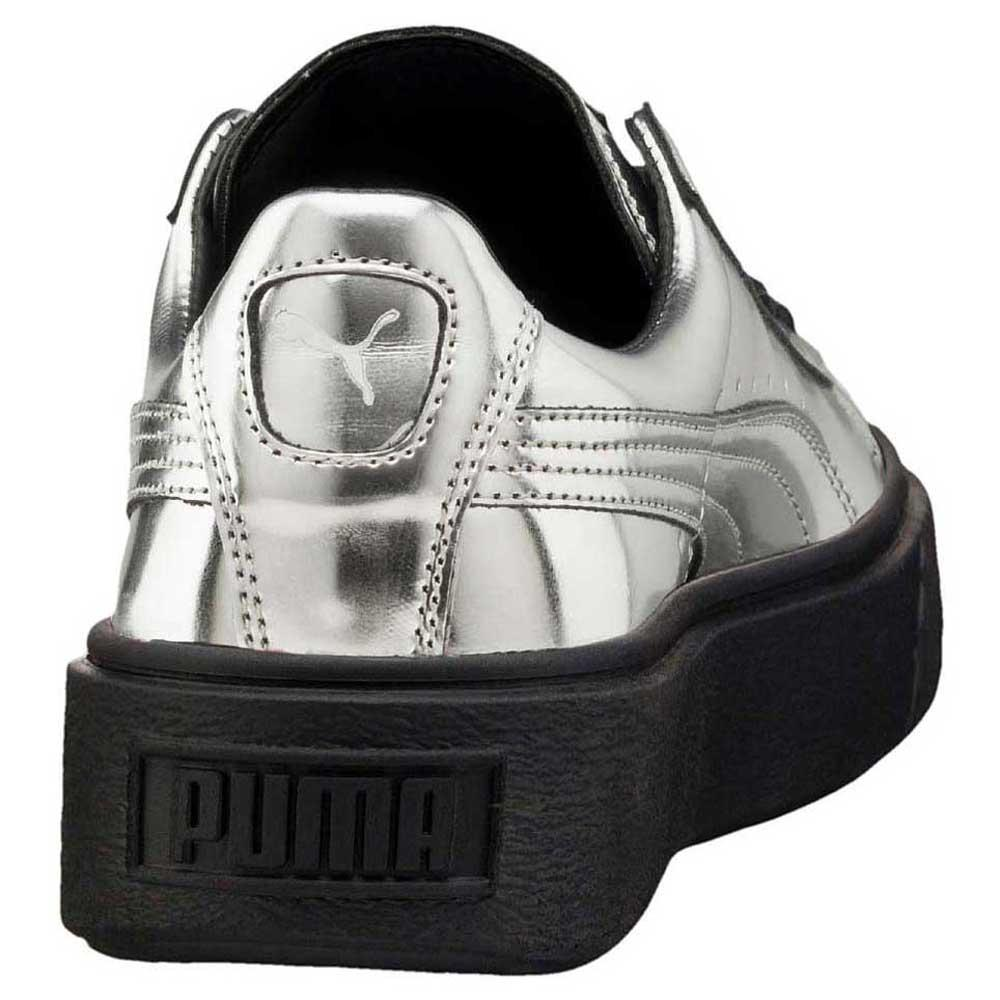 scarpe puma basket platform metallic