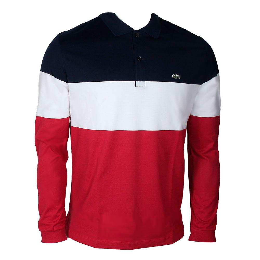 lacoste dh0152 polo ls blue buy and offers on dressinn