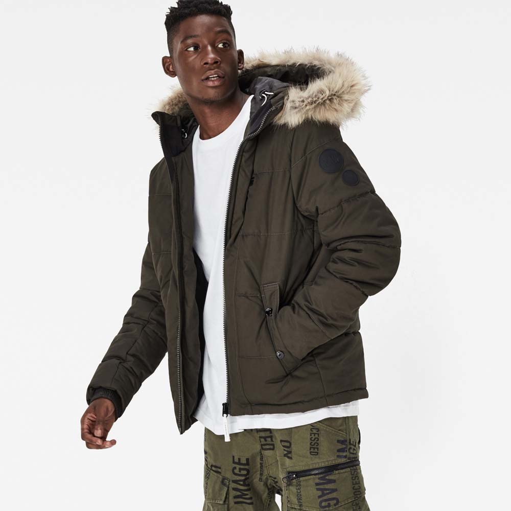 Gstar Whistler Hooded Fur Jacket