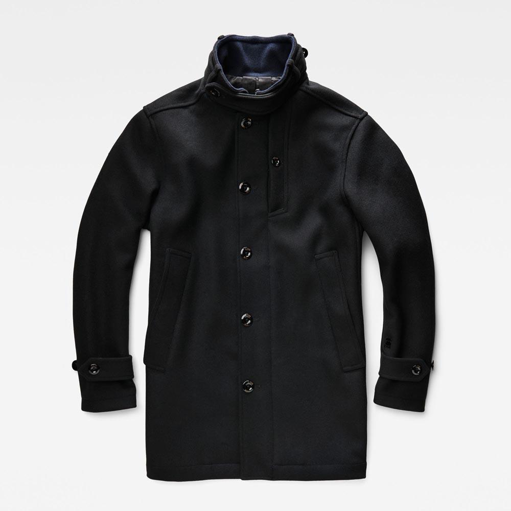 G Star Raw Wool Garber Men's Premium Saya Trench Coat Black