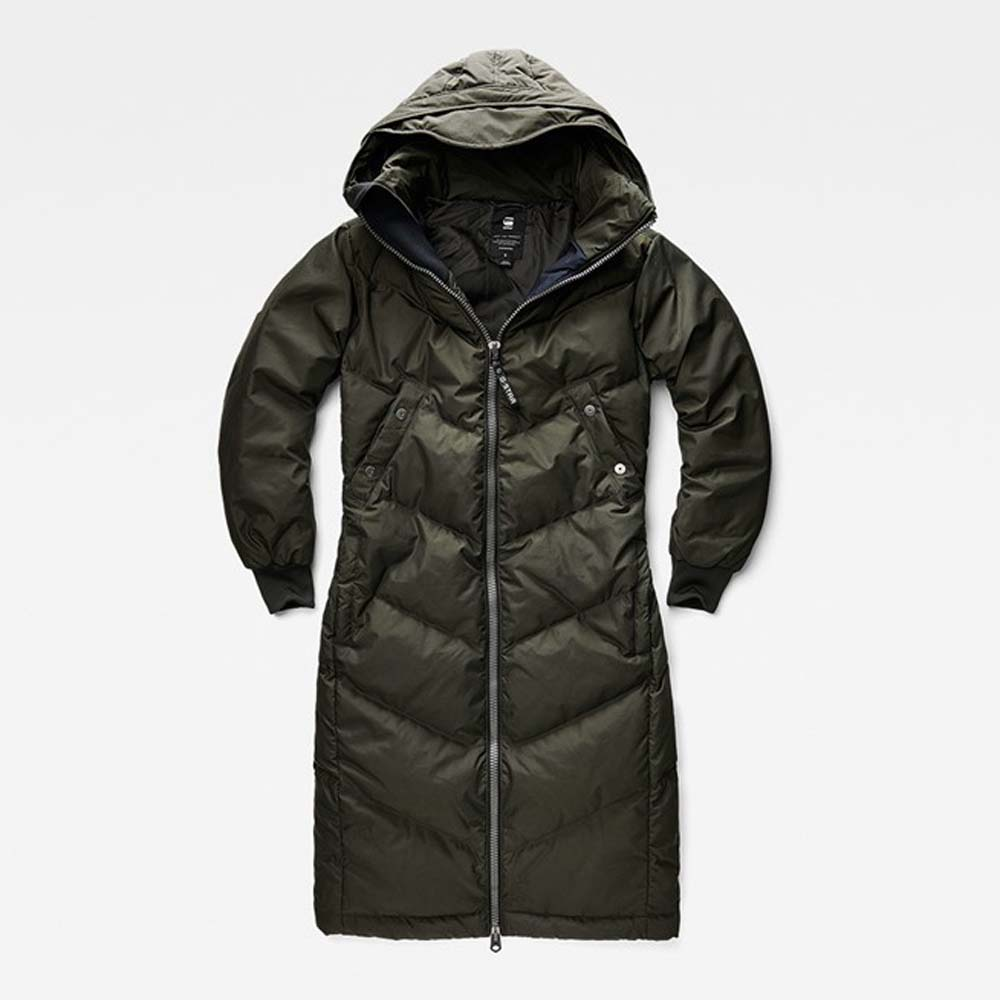 G-star Alaska Down Hooded Boyfriend Long Jacket