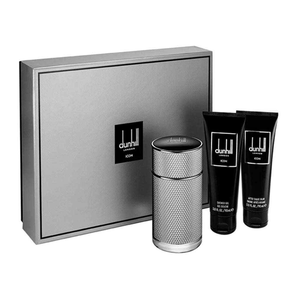Dunhill fragrances Icon Eau De Parfum 100ml Shower Gel 90ml After Shave Balm 90ml