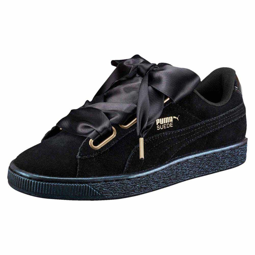 3d41fc900125 Puma Suede Heart Satin Black buy and offers on Dressinn