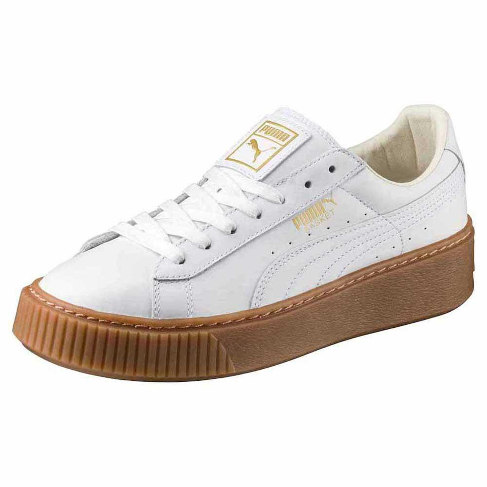a0cc64be27b08 Puma Basket Platform Core White buy and offers on Dressinn