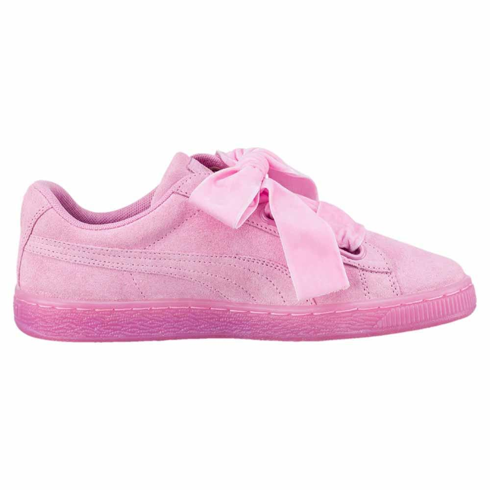 Puma Suede Heart Reset Pink buy and offers on Dressinn