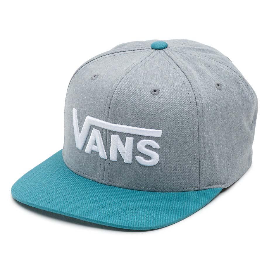 677ff290e06f9 Vans Drop V Snapback Hat Heather Grey   Larkspur