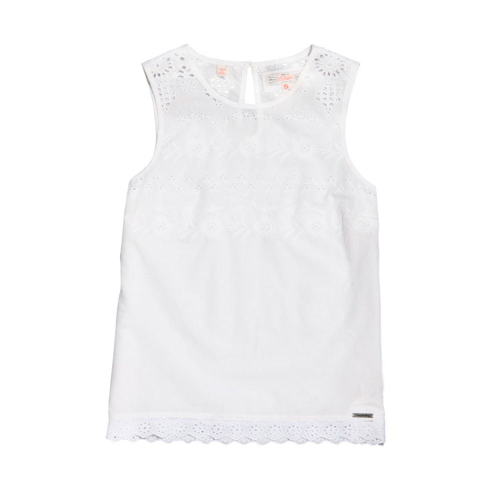 657e409c4710 Superdry Broderie Shell Top White buy and offers on Dressinn