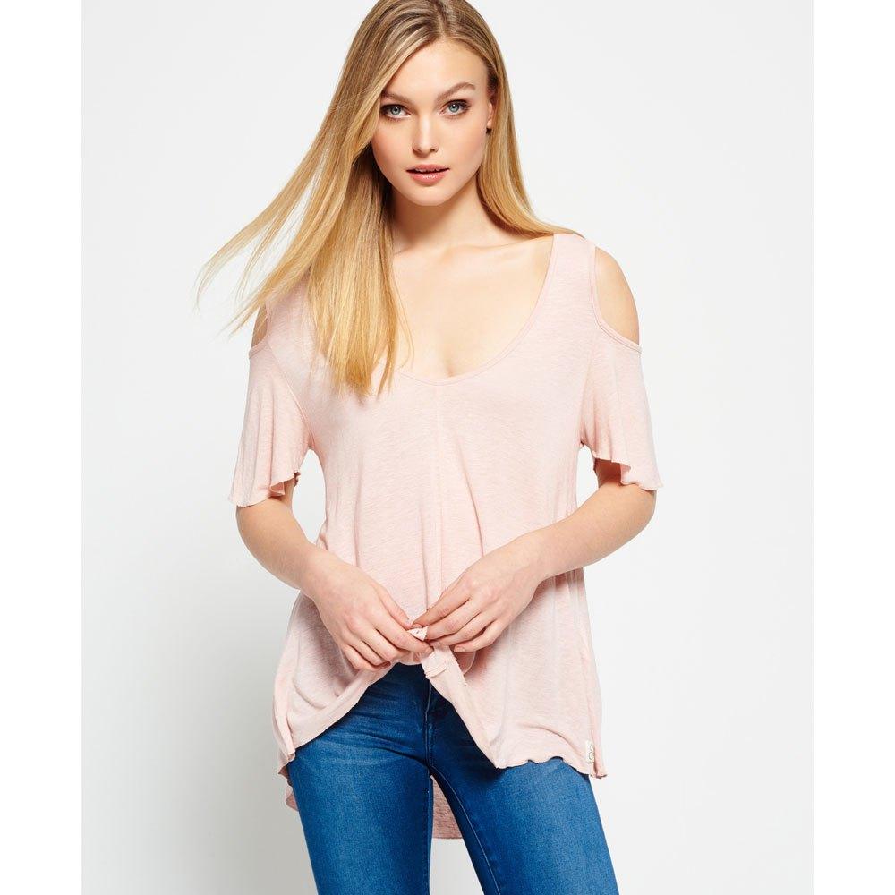 b70c735ad79 Superdry Boho Off Shoulder Top Pink buy and offers on Dressinn