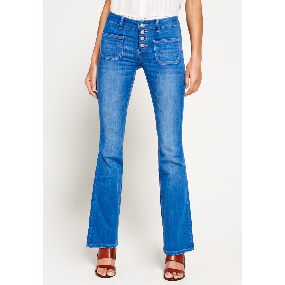 05060169c Superdry Zadie Flare Blue buy and offers on Dressinn
