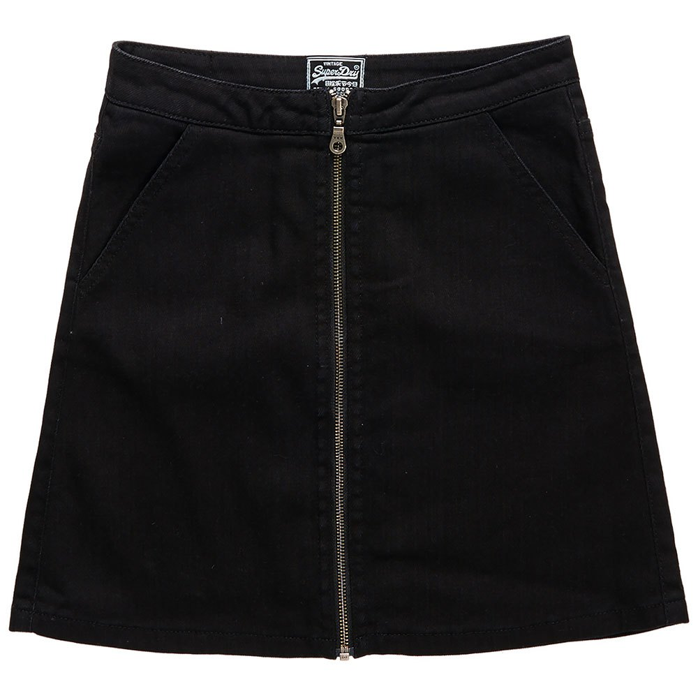 Superdry Kim Zippered Mini Skirt