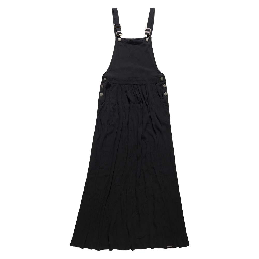 17a6c2c2119 Superdry Festival Dungaree Maxi Dress Black