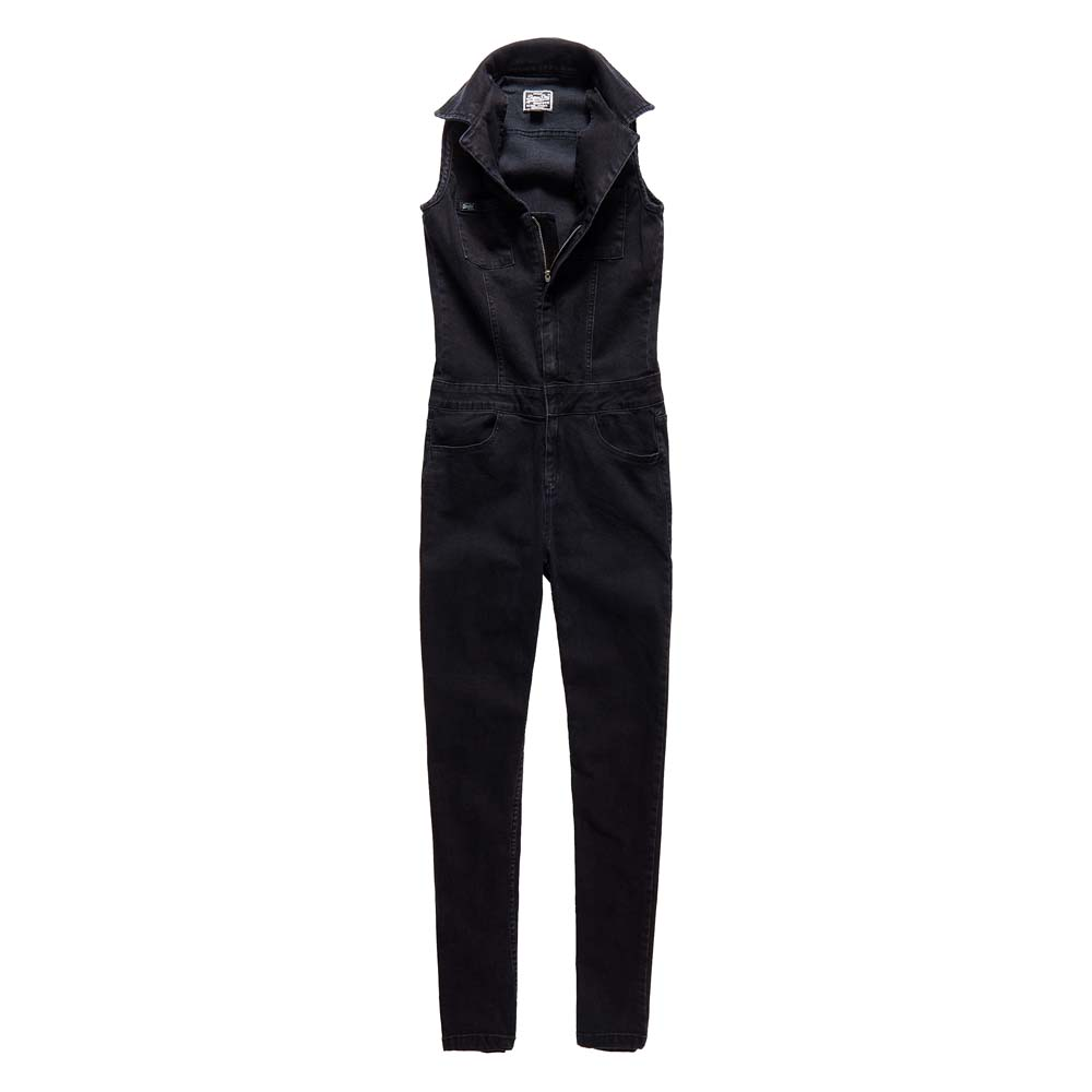 42d1edb9376b Superdry Utility Jumpsuit Black buy and offers on Dressinn