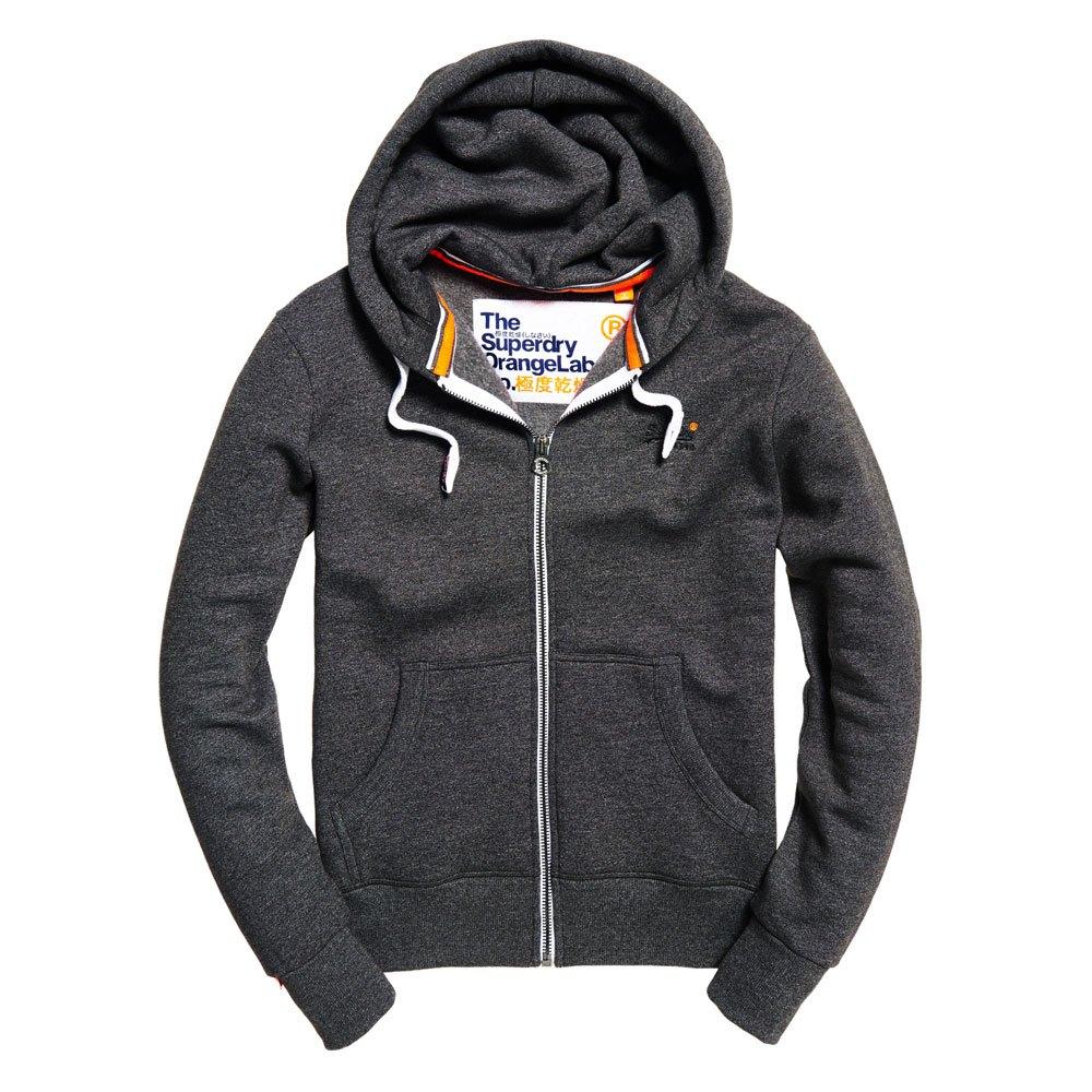 Superdry Orange Label Ziphood Grey buy and offers on Dressinn 10af2093215c