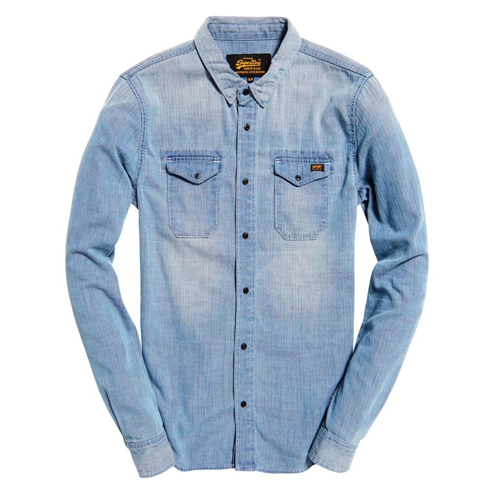 superdry denim shirt