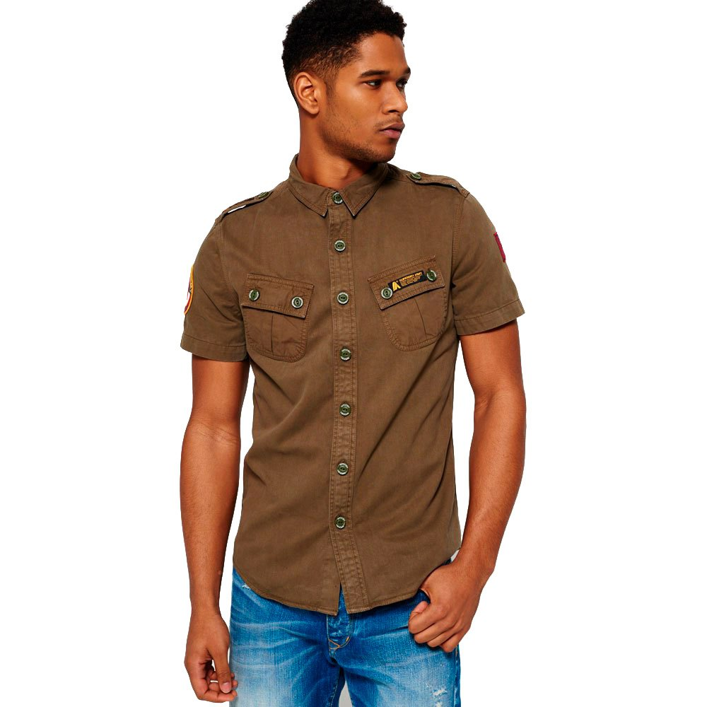 Chemises Superdry Hybrid Army Corps Light